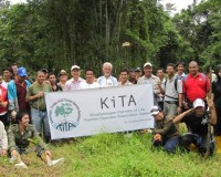 Tree planting at Sukau, Kinabatangan on 21 Mar 2012